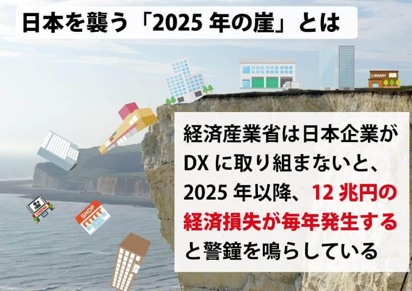 2025年の崖が日本を襲う