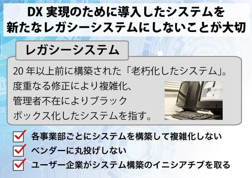 DXとレガシーシステムの関係